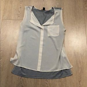 Forever 21 cream and grey tank top